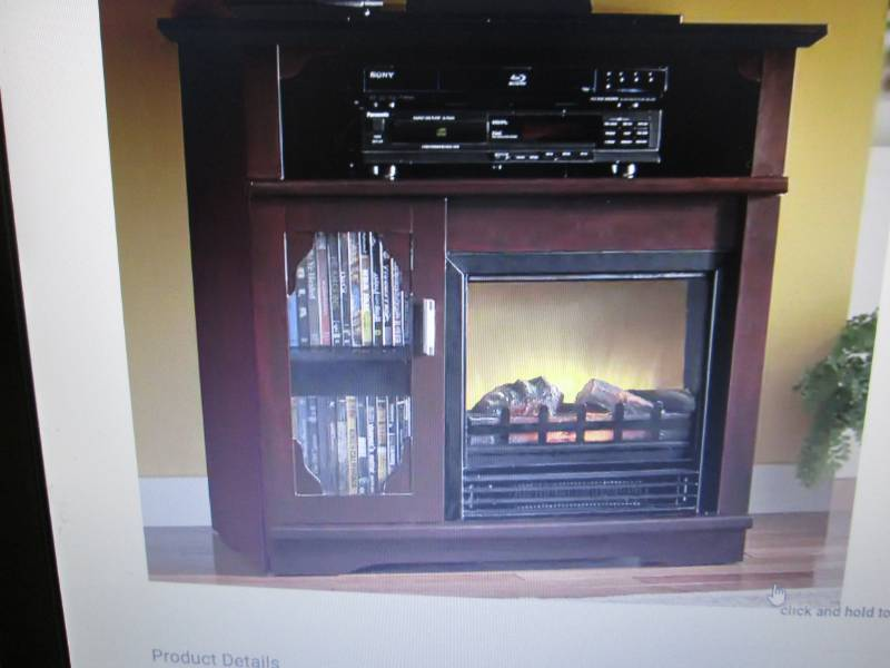Media Storage Electric Fireplace Op Vending Small Appliances