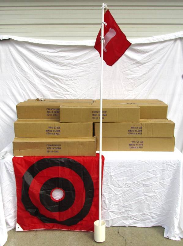 Large Lot of New Golf Hole With Flag Pole and Target Sets