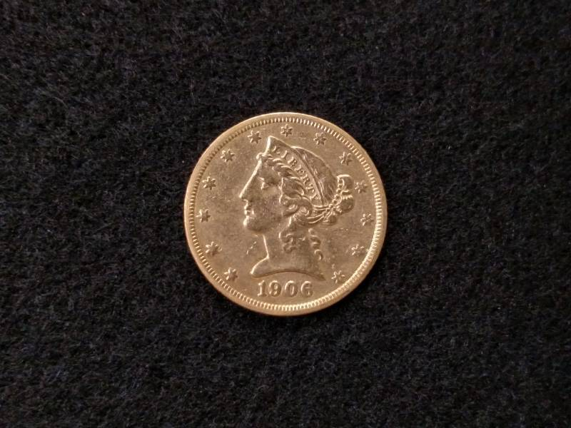 1906 S Five Dollars Liberty Head Go    | USA Coins