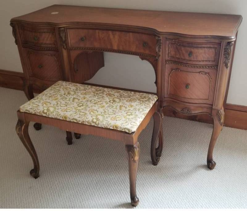 Antique French Provincial Vanity Desk