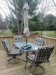 5pc Patio Furniture Set, bronze