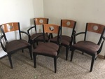 5 Padded Chairs With Armrests