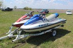 Pair of Jet Skies w/ Tandem Trailer