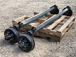 (2) 6-Lug Trailer Axles With Brakes