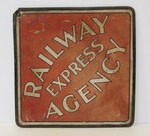 Original Vintage 1930's-40's RAILWAY EXPRESS AGENCY Diamond Railroad Sign