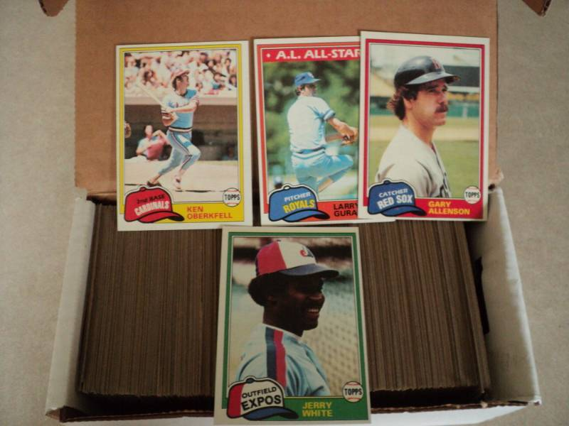 Box Of 1981 Topps Baseball Cards Sport Card