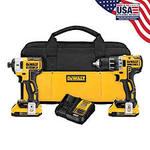DEWALT 20-Volt MAX XR Lithium-Ion Cordless Premium Brushless Hammer Drill with (2)REGULAR Batteries , Charger and Case in good condition