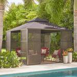 Hampton Bay 11 ft. x 11 ft. Aluminum Full Screen Sliding Door Gazebo in good conditions