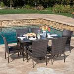 Set of 6 Chairs model - Noble House Outdoor Wicker Sofa Set in good conditions accompany with Noble House Alfresco Bronze Rectangular Aluminium Dining Table all in very good condition