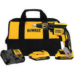 DEWALT 20-Volt MAX XR Lithium-Ion Cordless Brushless Drywall Screw Gun Kit with (2) Batteries 2Ah, Charger and Contractor Bag in good condition
