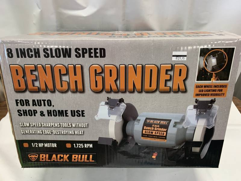 Admirable New 8 Black Bull Slow Speed Bench Grinder Brand New Theyellowbook Wood Chair Design Ideas Theyellowbookinfo