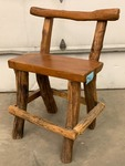 Hand-Crafted Heavy Duty Log Bar Stool
