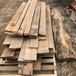 Pallet Lot Of Vintage Barn-Wood & Rough-Cut Oak Lumber