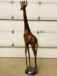 Hand-Carved 8ft-Tall Wooden / Painted Giraffe