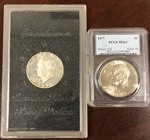 1977 MS63 PCGS Ike dollar, 1971-S S...