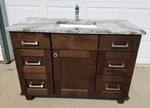 Cambria Quartz Top Mission Style solid wood Vanity