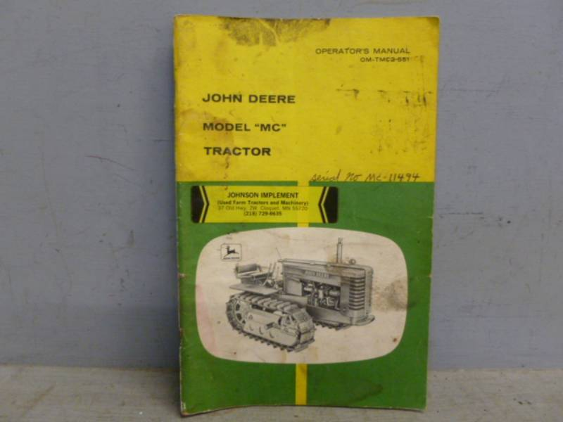 Vintage John Deere Manual Richmond