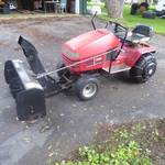 Toro Wheel Horse 264-H Lawn Tractor with Berco Snowblower Attachment
