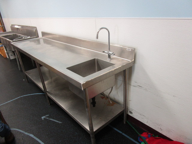 Stainless Steel Counter With Sink And Shelf Abi 503 Mound