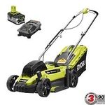 13 in. ONE+ 18-Volt Lithium-Ion Cordless Battery Walk Behind Push Lawn Mower with 4.0 Ah Battery/Charger Included by RYOBI in good condition