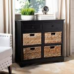 Herman Distressed Black Chest by Safavieh not used