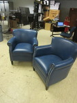 TWO VINYL ARMCHAIRS