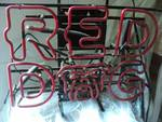 RED DOG Neon Sign Light- Works!  21...