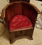 Very Old Spanish Mission Style Oak Barrel Chair Oak Chair