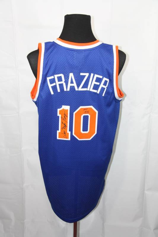 best authentic fca0c 534d2 New York Knicks Walt Frazier Jersey Auto JSA COA | Pop ...