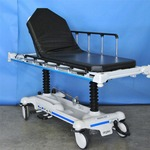 Retails New $6000 - Super Nice Stryker 721 Bariatric 500lb Capacity Patient Transport Transfer Bed Hi/Low Tilt Forward & Back Gurney Stretcher EMS OR Hospital Emergency Ambulance Mobile Easy Steer Multi-adjustable Rolling - Comes With Free Pad!
