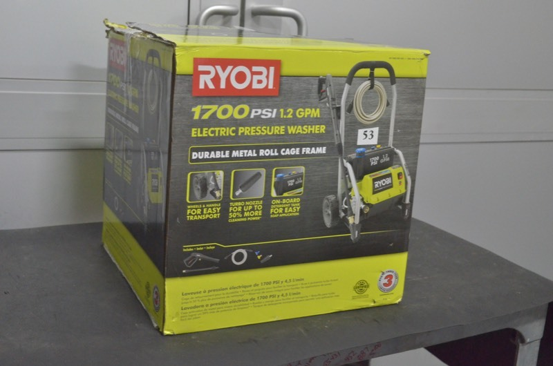 RYOBI 1,700 PSI 1 2 GPM Electric Pressure Washer | Savage August