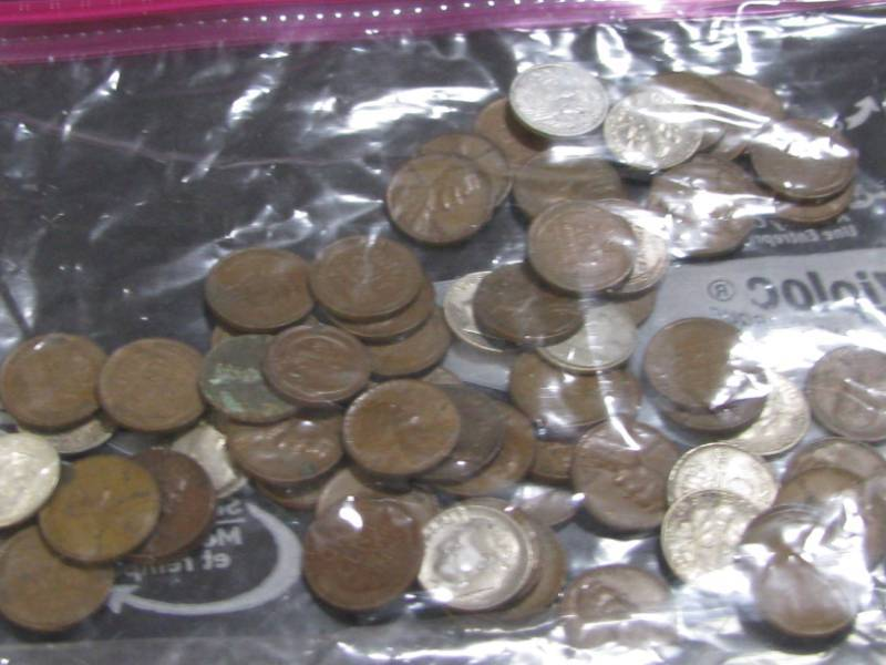 Wheat Pennies & Dimes | COINS-GOLD JEWELRY-ANTIQUES-COLLECTIBLES