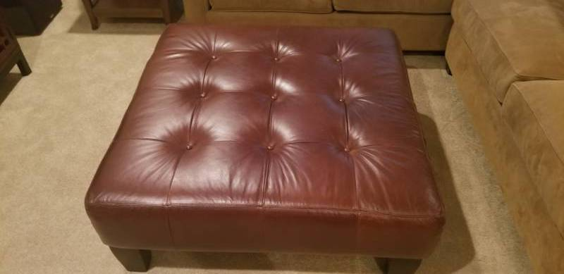 Remarkable Bernhardt Leather Ottoman For Pottery Barn Bloomington Caraccident5 Cool Chair Designs And Ideas Caraccident5Info