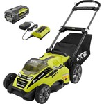 RYOBI 20 in. 40-V Brushless Cordless Self-Propel Walk Behind Mower Lightweight Not used w/ battery and charger