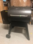 Traeger Eastwood 22 Wood Pellet Grill and Smoker in Silver Vein used