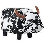 Cow Animal Storage Ottoman Footrest Stool by Merax not used