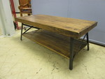 HANDCRAFTED RUSTIC WOOD AND METAL COFFEE TABLE