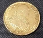 1793 SPANISH GOLD 2 ESCUDOS CHARLES IV XF