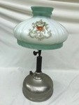Antique Oil Lamp w/Glass Shade