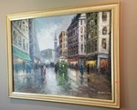 Gorgeous Painting of a European Street