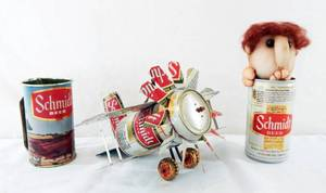 Lot of Vintage Schmidt Beer Can Items