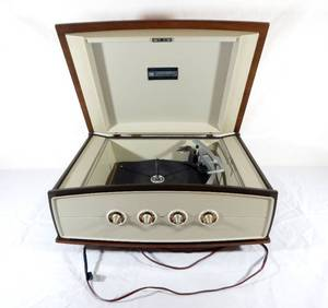 Vintage 1960's CBS Laboratories Columbia Stereo 360 Pye Limited Garrard Turntable Phonograph Record Player