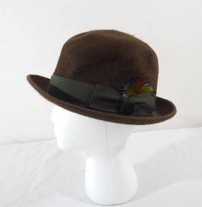 Vintage 1940's Foreman and Clark Nu Velvo Men's Bowler Hat
