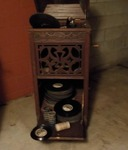 Vintage Phonograph With Records...