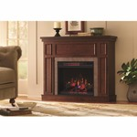 Home Decorators Collection Granville 43 in. Convertible Mantel Electric Fireplace in Antique Cherry with Faux Stone Surround not used