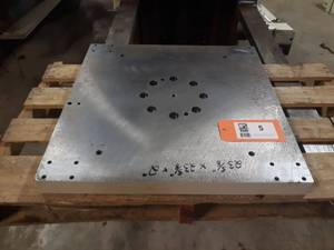 "2"" Thick Steel Plate 23"" x 23"" - Would Make a Good Welding Table"