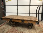 LARGE Antique Industrial NUTTING Railroad Cart