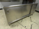 STAINLESS STEEL PREP TABLE WITH STORAGE AND DRAWERS