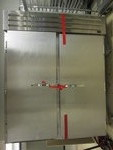 TRUE TWO SECTION STAINLESS STEEL ROLL IN REFRIGERATOR