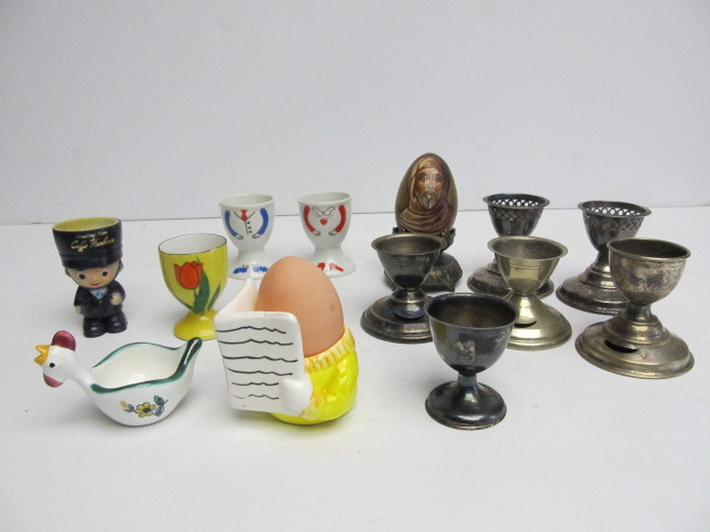 Collection Of Vintage Egg Cups Little